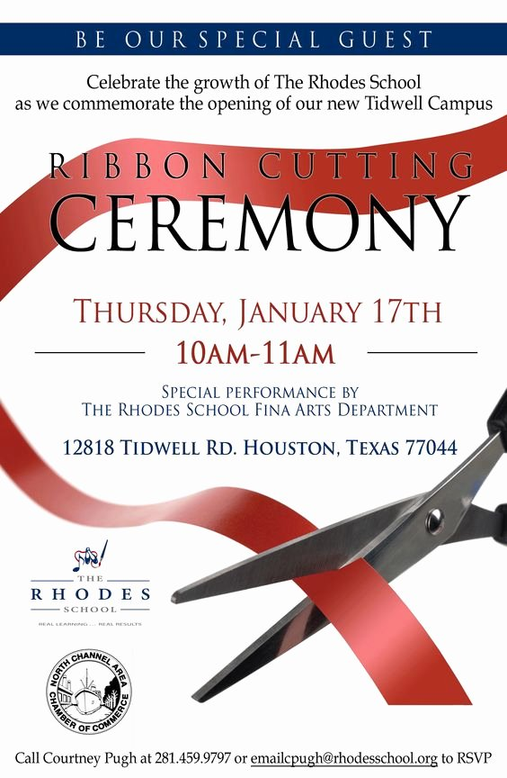 Ribbon Cutting Invitation Templates Awesome Free Ribbon Cutting Invitations