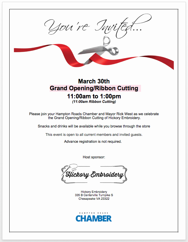 Ribbon Cutting Invitation Templates Beautiful Ribbon Cutting Member News News