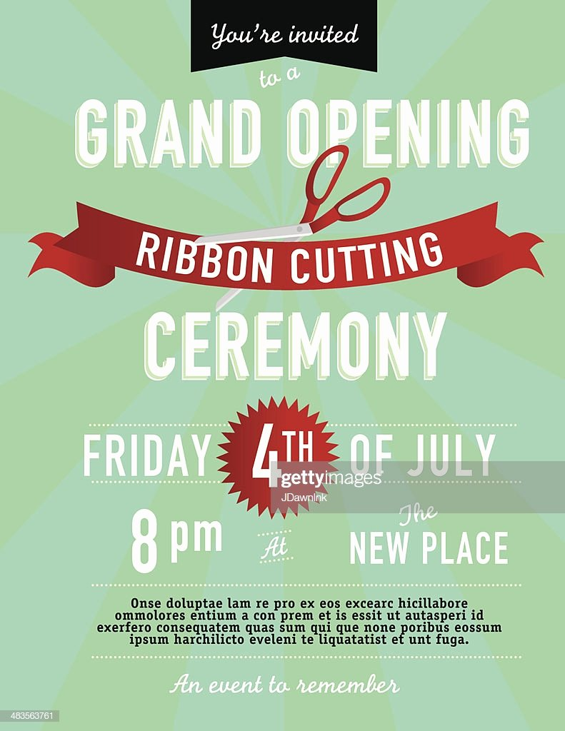 Ribbon Cutting Invitation Templates Best Of Grand Opening Ribbon Cutting Invitation Design Template