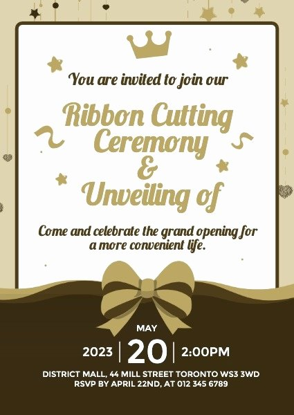 Ribbon Cutting Invitation Templates Fresh Line Business Opening Ceremony Ribbon Cutting Invitation