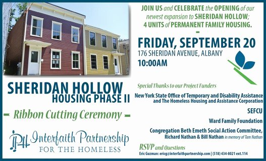 Ribbon Cutting Invitation Templates Fresh Sheridan Hollow Housing Ribbon Cutting Ceremony