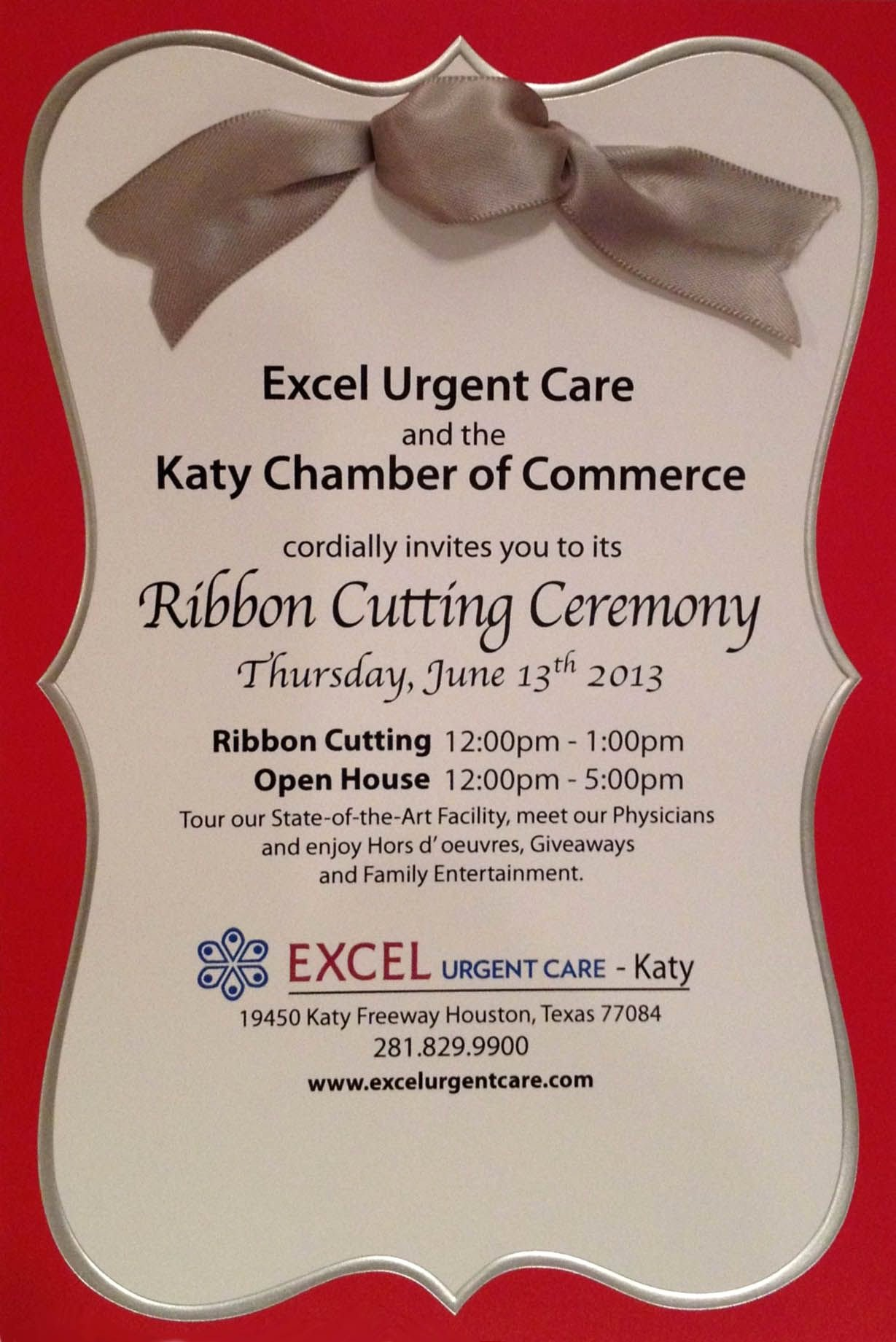 Ribbon Cutting Invitation Templates Unique You Re Cordially Invited to Excel Urgent Care 3rd Location