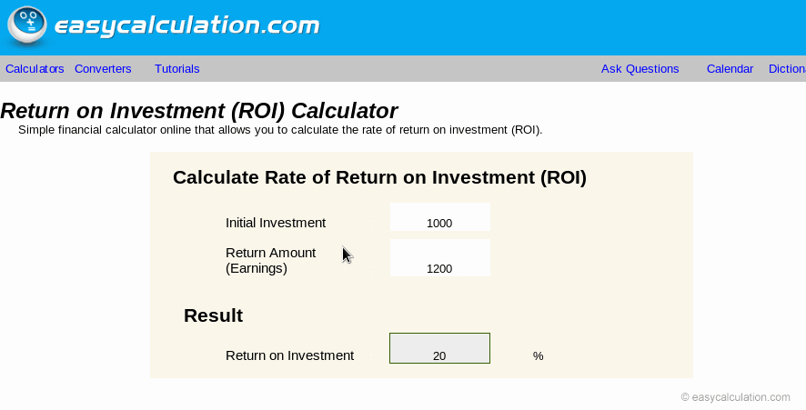 Roi Calculator Excel Template Lovely Excel Roi Calculator Calculator Spreadsheet Free Download
