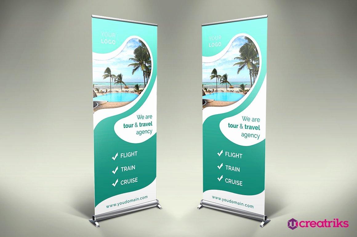 Roll Up Banner Design Elegant Travel Roll Up Banner Other Presentation software Templates Creative Market