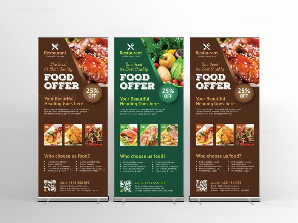 Roll Up Banner Design Inspirational Luxury Restaurant Roll Up Banner Design Template Template Catalog