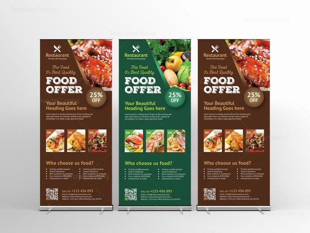 Roll Up Banner Design Inspirational Luxury Restaurant Roll Up Banner Design Template Template Catalog