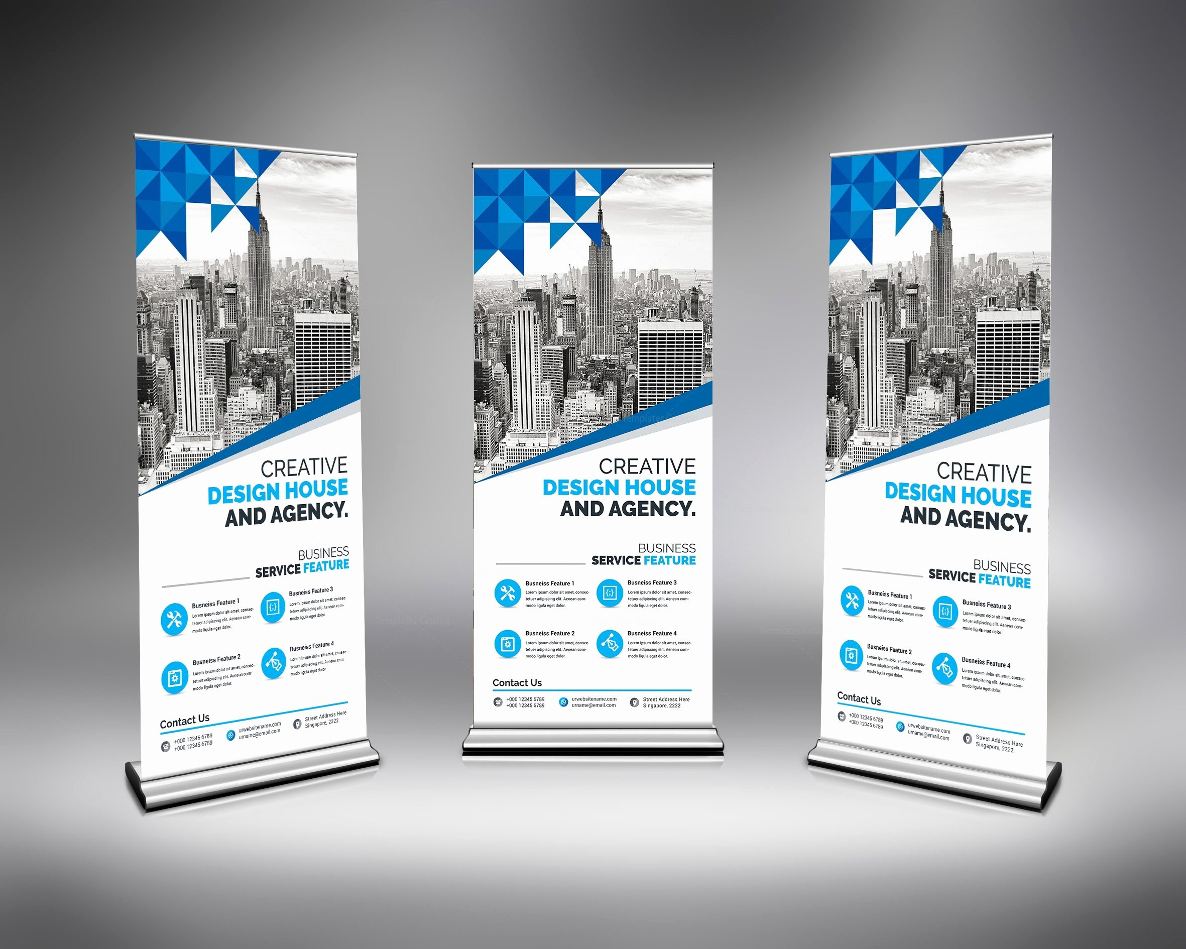 Roll Up Banner Design New Modern Stylish Roll Up Banner Template Catalog