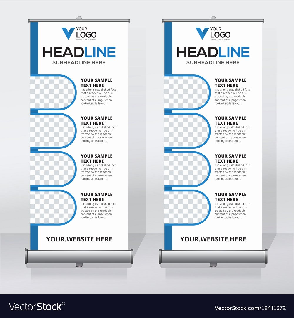 Roll Up Banner Design Unique Creative Roll Up Banner Design Template Royalty Free Vector