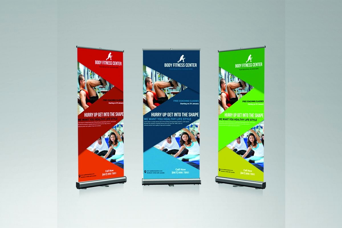 Roll Up Banner Design Unique Fitness Roll Up Banner