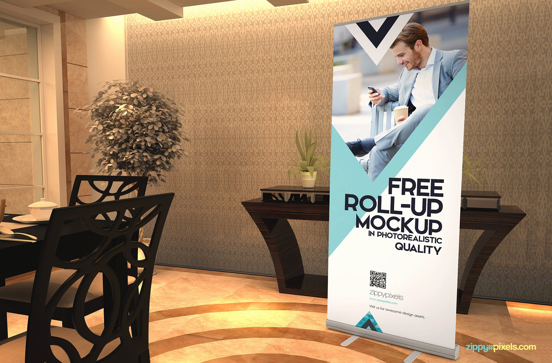 Roll Up Banner Mockup Beautiful Free Roll Up Banner Mockup