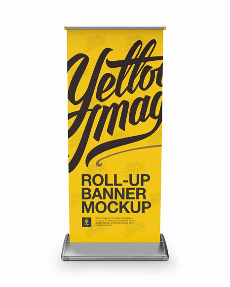 Roll Up Banner Mockup Fresh Roll Up Banner Mockup Front View In Indoor Advertising Mockups On Yellow Object Mockups