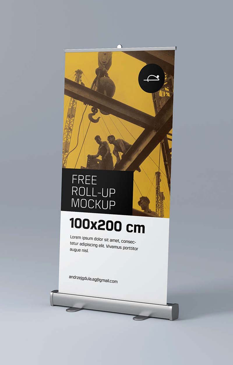Roll Up Banner Mockup Luxury Roll Up Banner Mockup Free Psd