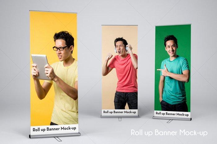 Roll Up Banner Mockup Unique Roll Up Banner Mock Up V4 Mockup Templates Creative Market