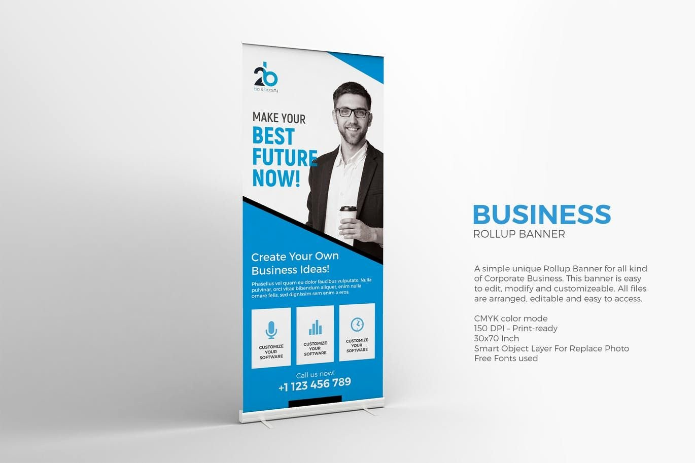 Roll Up Banner Template Elegant Business Roll Up Banner Template Psd Roll Up Banner Design Templates