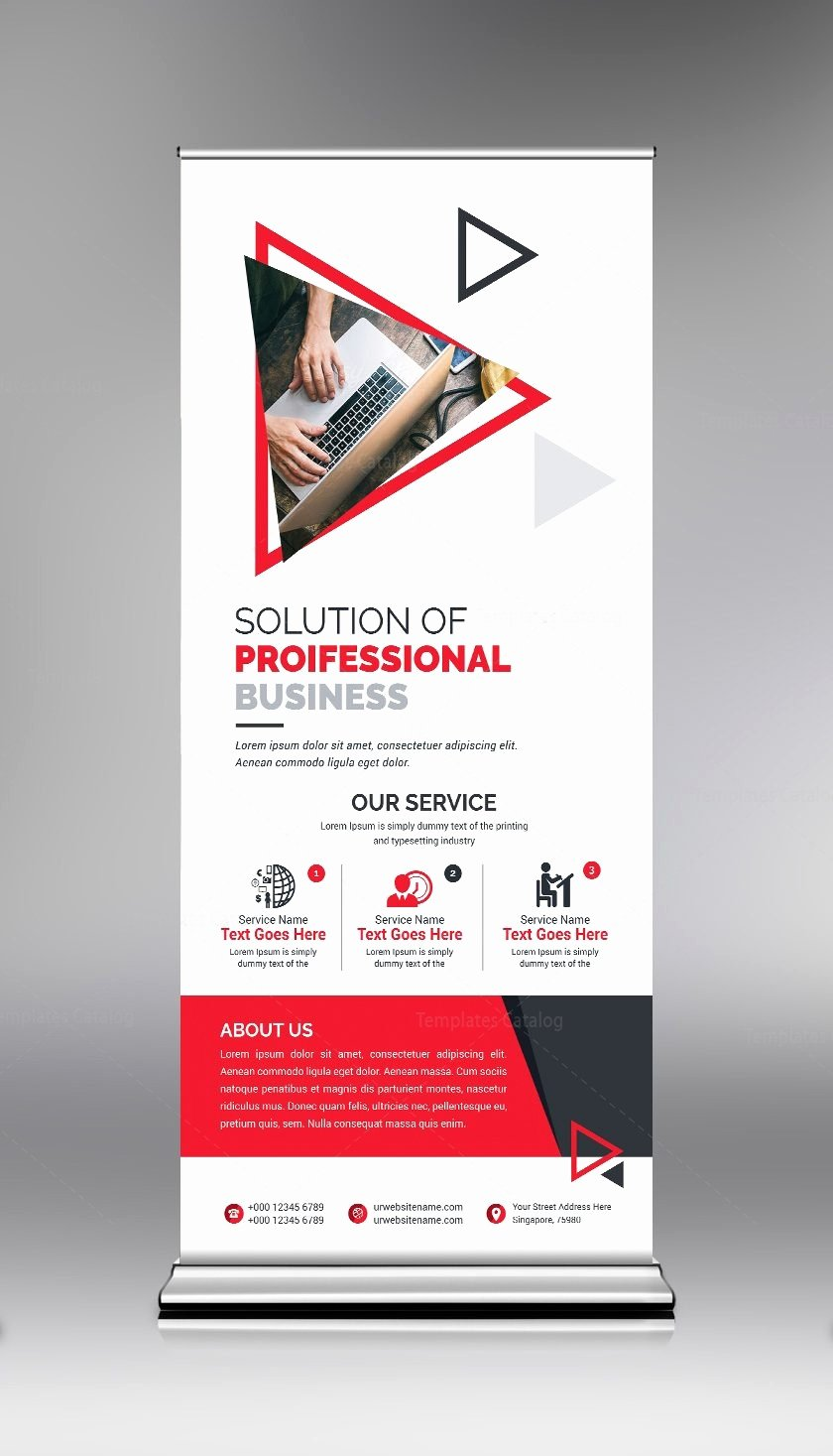 Roll Up Banner Template Fresh Roll Up Banner Template with Clean Design Template Catalog