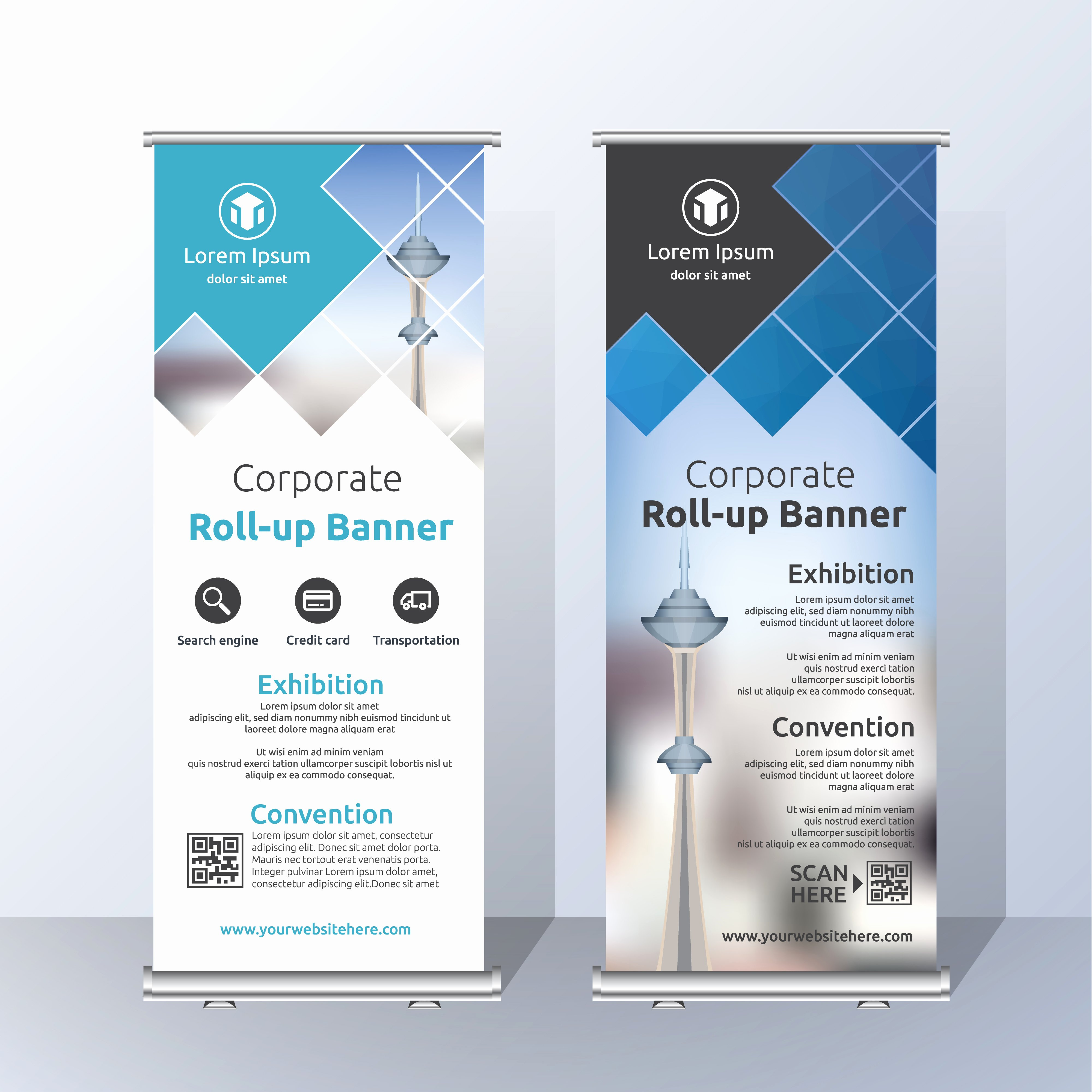 Roll Up Banner Template Lovely Announcement Free Vector Art Free Downloads
