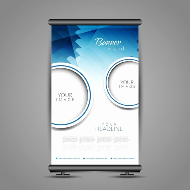 Roll Up Banner Template Luxury Roll Up Banner Template Vector