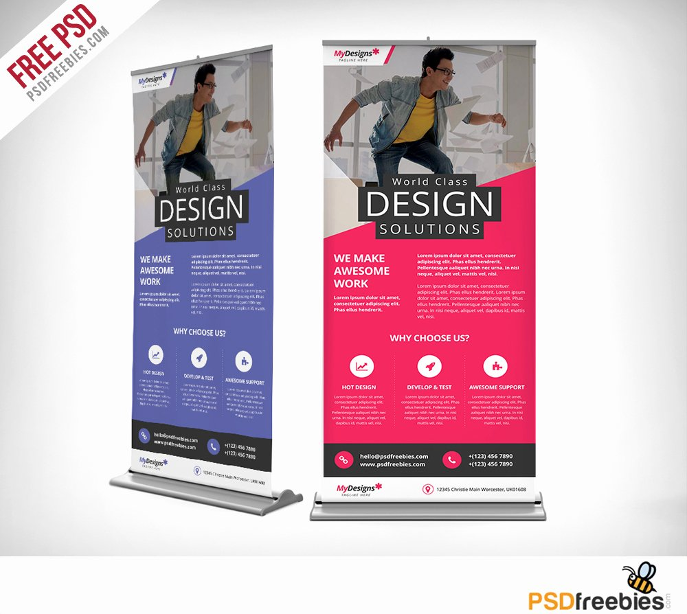 Roll Up Banner Template Unique Corporate Outdoor Roll Up Banner Free Psd