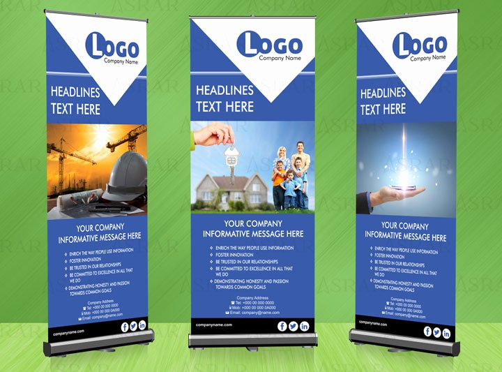 Roll Up Banners Designs Awesome Real Estate Roll Up Banner 50 Aed