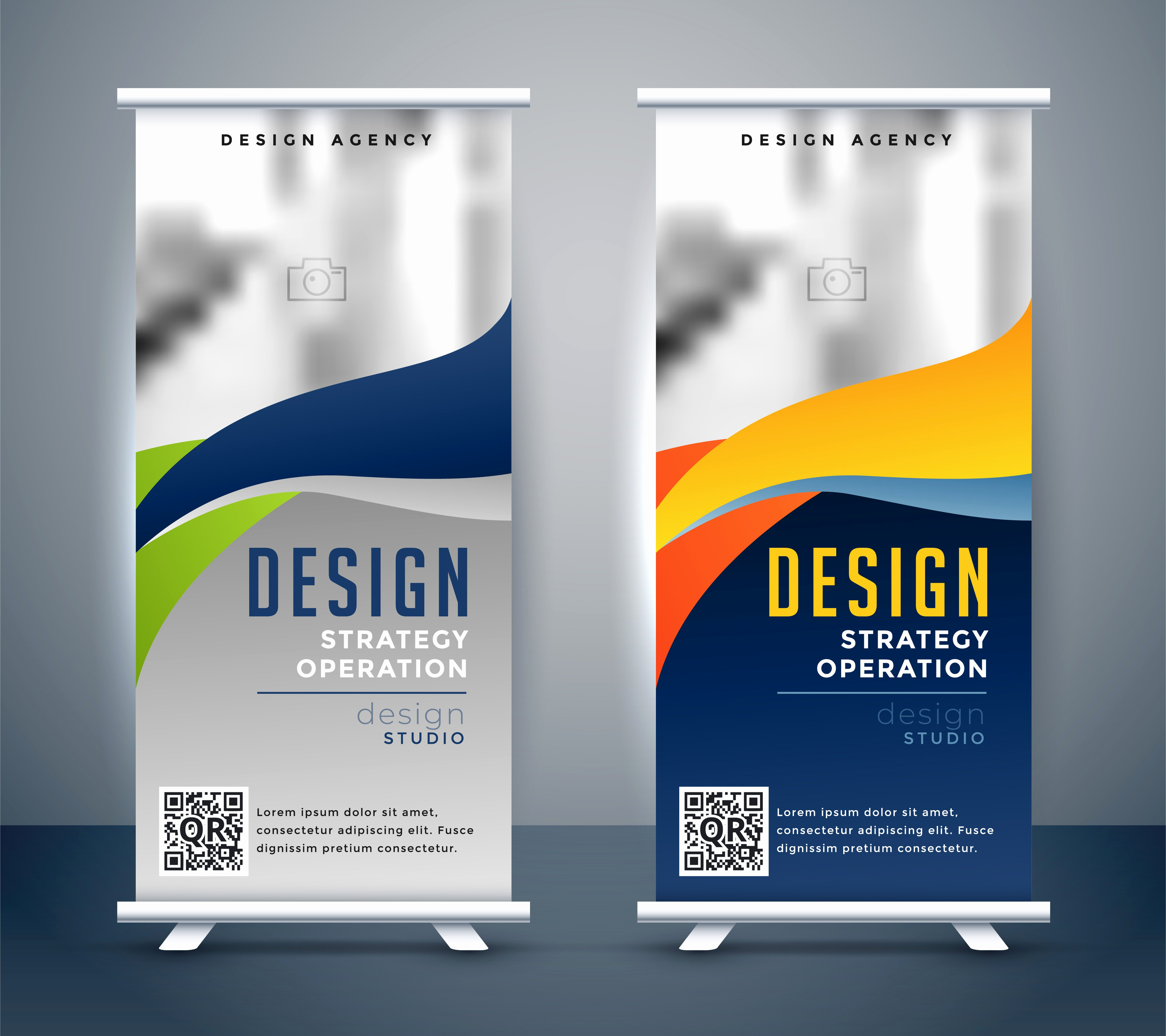 Roll Up Banners Designs Fresh Abstract Roll Up Banner Standee Design Download Free Vector Art Stock Graphics &