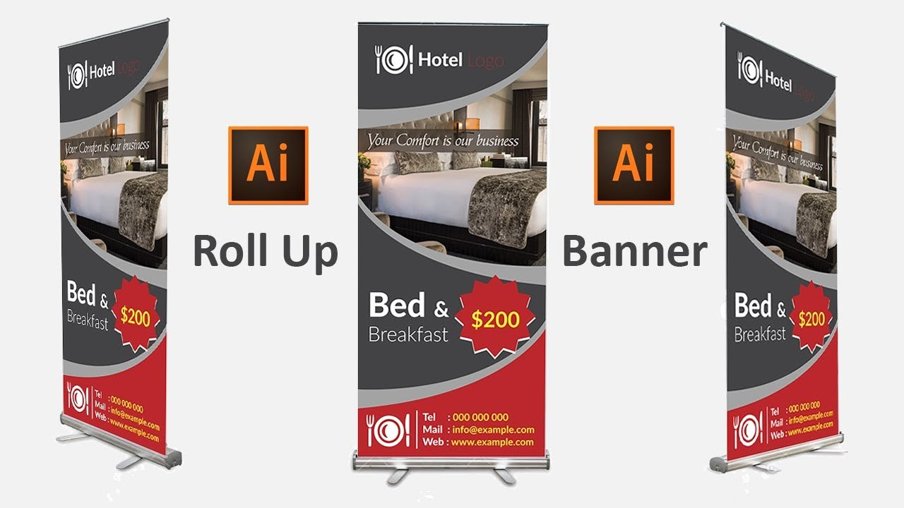 Roll Up Banners Designs Fresh How to Design A Roll Up Banner In Adobe Illustrator Cc