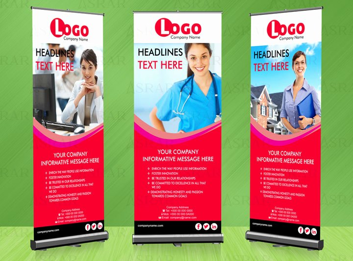 Roll Up Banners Designs New Creative Roll Up Banner 50 Aed