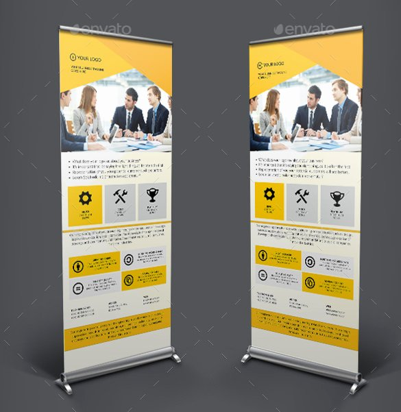Roll Up Banners Template New 36 Rollup Banner Templates Psd Illustrator