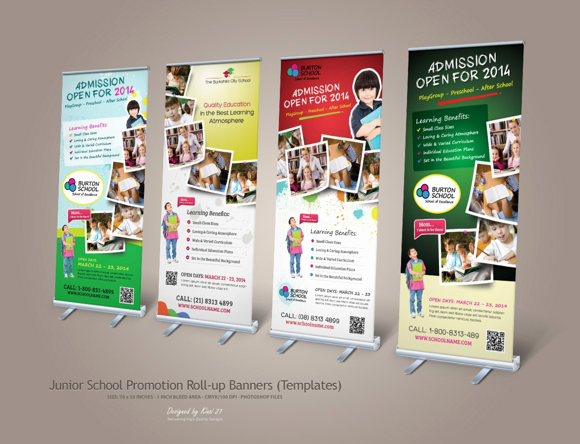 Roll Up Banners Template Unique 16 Promotion Banner Designs
