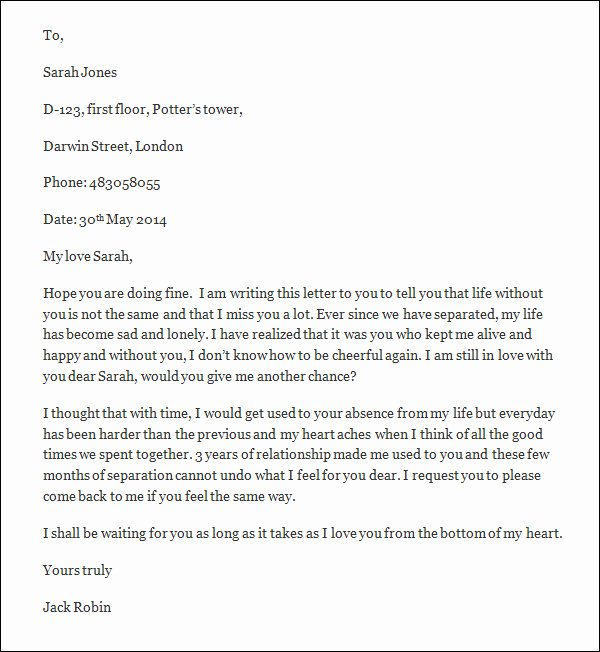 Romantic Letters for Girlfriend Best Of Free 9 Love Letters for Girlfriend Doc
