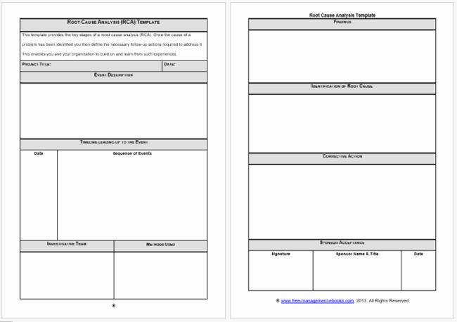 Root Cause Analysis form Awesome Root Cause Analysis Templates 8 Docs for Word Excel Powerpoint and Pdf