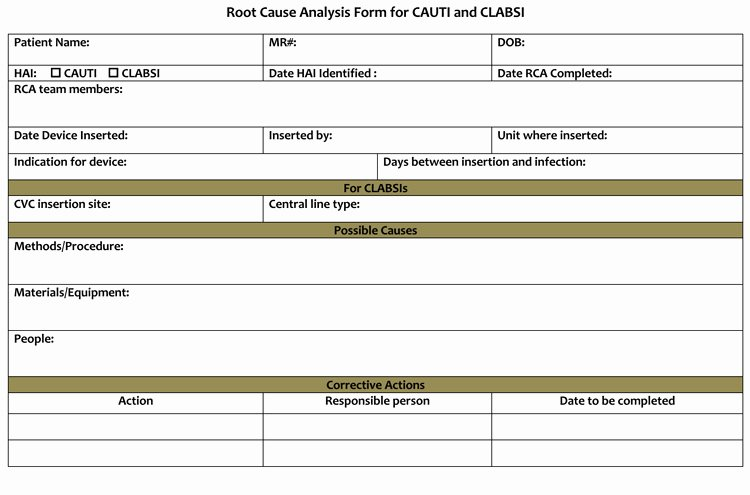 Root Cause Analysis form Lovely 10 Root Cause Analysis Template [word Excel Pdf]
