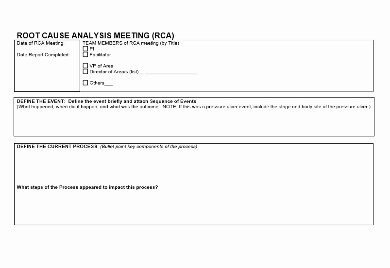 Root Cause Analysis form Luxury Root Cause Analysis Template