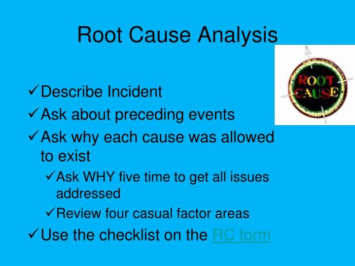 Root Cause Analysis form Unique Ppt Incident Investigation Powerpoint Presentation Id