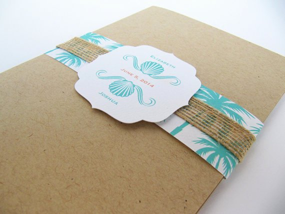 Rustic Beach Wedding Invitations Awesome Beach Rustic Wedding Invitation Pocket Fold Suite Seaside Beach Wedding Sample