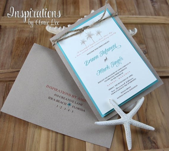 Rustic Beach Wedding Invitations Awesome Items Similar to Rustic Beach Wedding Invitations Beach Wedding Wedding Invitations On Etsy