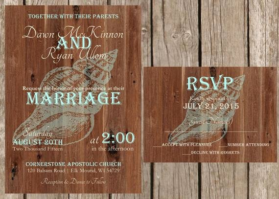 Rustic Beach Wedding Invitations Beautiful Rustic Beach Wedding Invitation Beach Wedding Invitation
