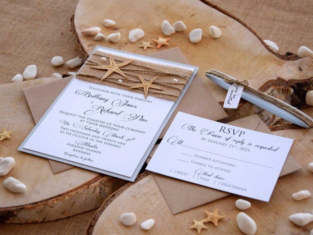 Rustic Beach Wedding Invitations Elegant Destination Wedding Invitations Pocketfold Wedding Invitations