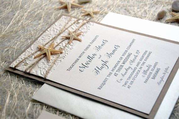 Rustic Beach Wedding Invitations Fresh Beach Wedding Invitation Card Custom Invitations Embossed Wedding Invitation Rustic