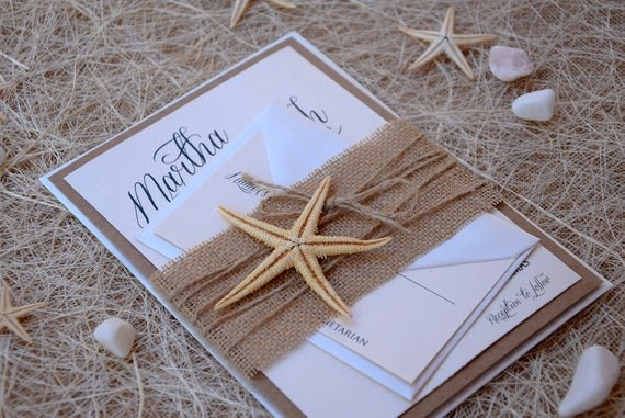 Rustic Beach Wedding Invitations Lovely Rustic Invitations Beach Wedding Invitation by Paperstudiobyc