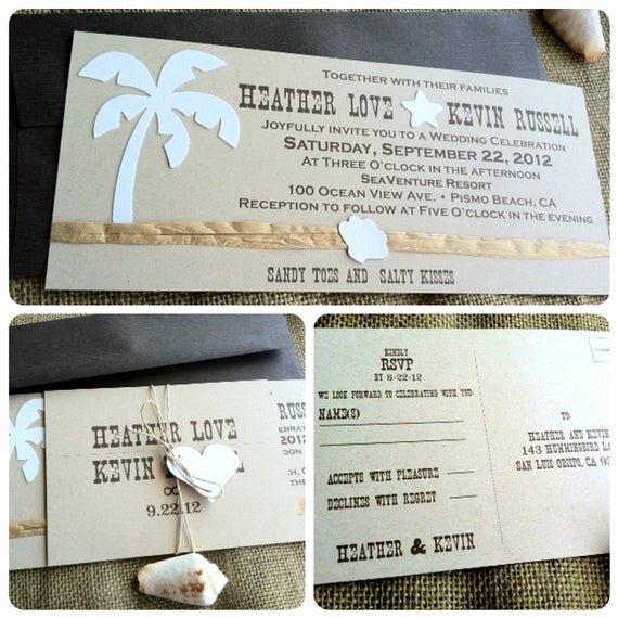Rustic Beach Wedding Invitations Lovely Wedding Invitations Rustic Beach Sandy toes and Salty