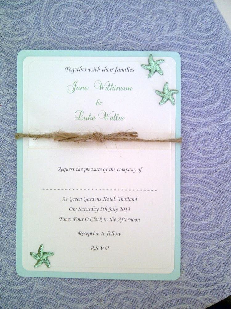 Rustic Beach Wedding Invitations Luxury Rustic Starfish Beach themed Wedding Invitation by Lksinvitations