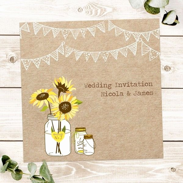 Rustic Sunflower Wedding Invitations Inspirational Rustic Sunflowers Wedding Invitations From Dotty About Paper