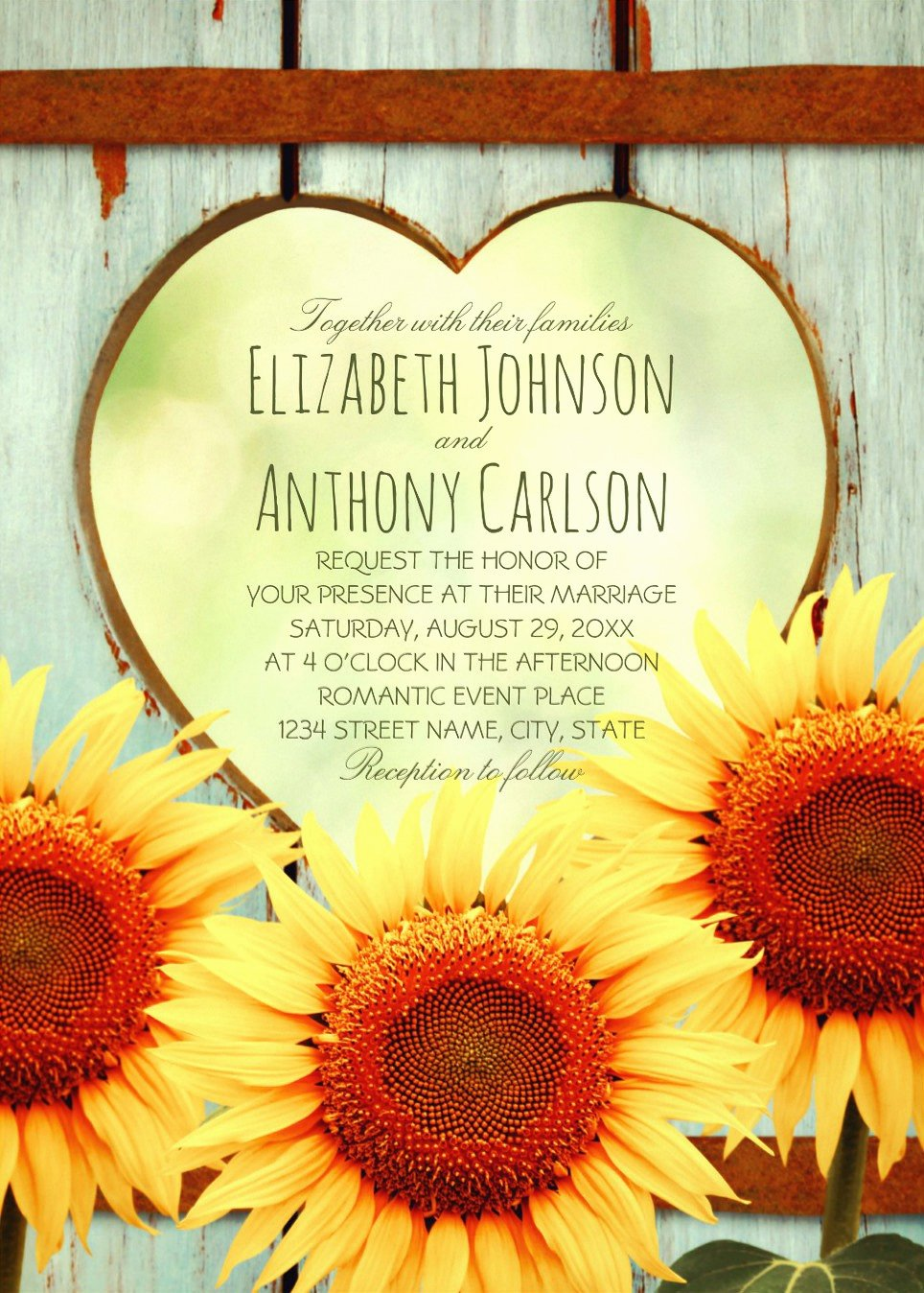 Rustic Sunflower Wedding Invitations Lovely Unique Vintage Rustic Sunflower Wedding Invitations Creative Invites