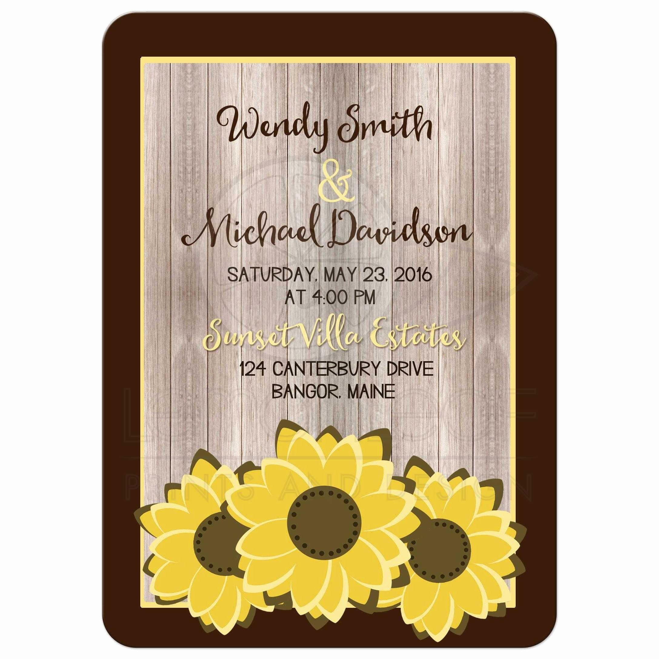 Rustic Sunflower Wedding Invitations Luxury Wedding Invitation Whimsical Rustic Sunflower