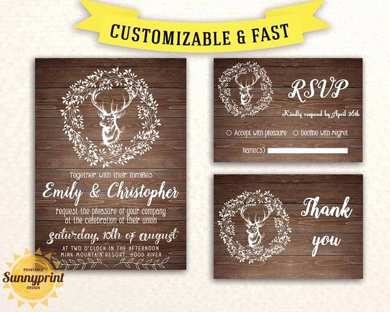 Rustic Wedding Invitation Templates Awesome Rustic Wedding Invitation Template Wedding Invitation