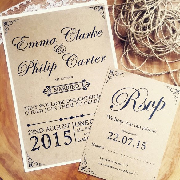 Rustic Wedding Invitation Templates Beautiful 28 Rustic Wedding Invitation Design Templates Psd Ai