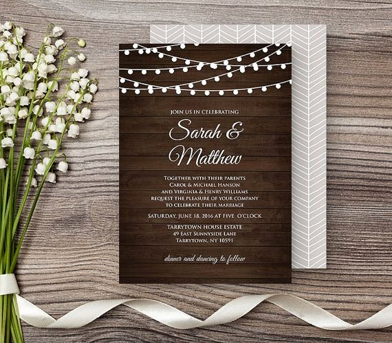Rustic Wedding Invitation Templates Best Of 12 Best Wedding Invitations Images On Pinterest
