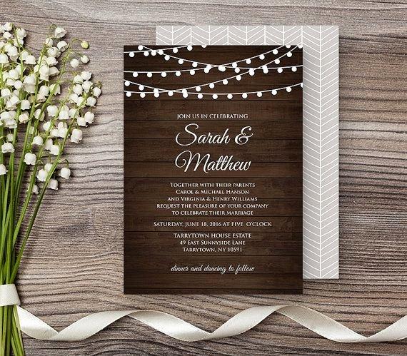 Rustic Wedding Invitation Templates Best Of 12 Best Wedding Invitations Images On Pinterest