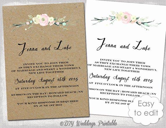 Rustic Wedding Invitation Templates Fresh Printable Rustic Wedding Invitation Template Rustic