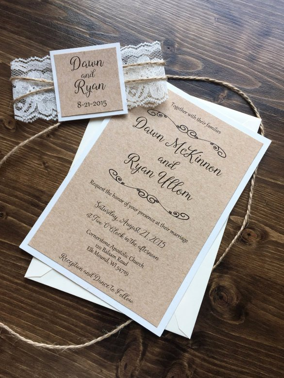 Rustic Wedding Invitation Templates Lovely 28 Rustic Wedding Invitation Design Templates Psd Ai
